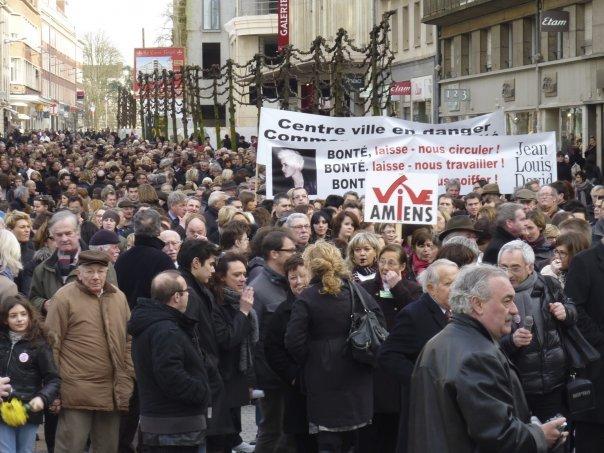 Manifestation des commerçants d'Amiens